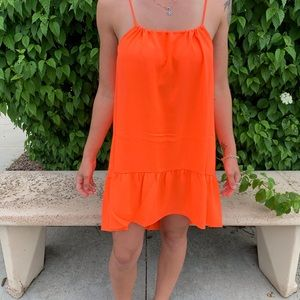 Line & Dot Orange Beach Dress